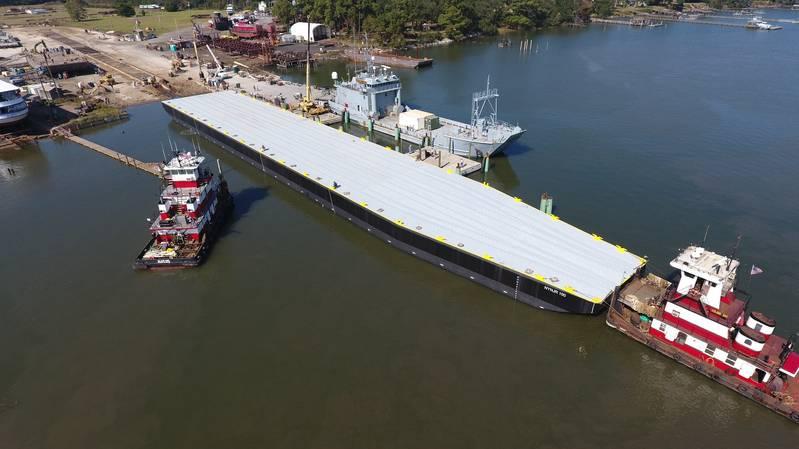 Metal Trades Delivers Construction Barge